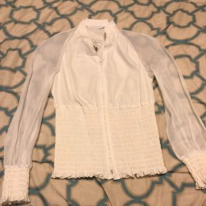 Anne Fontaine zip front blouse